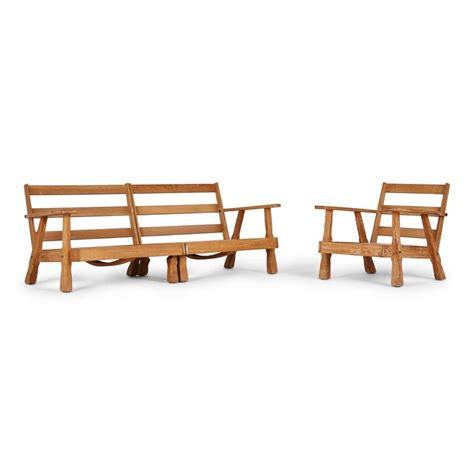 a brandt ranch three textured oak seating set