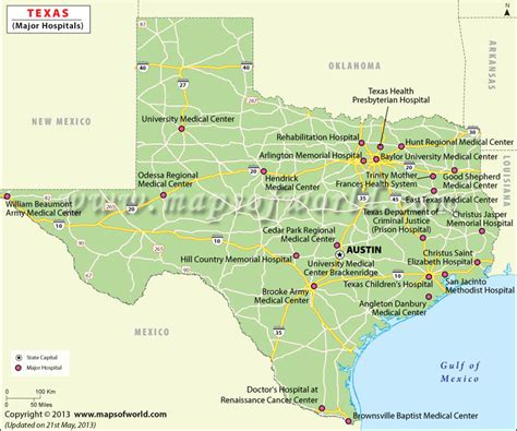 map of hospitals in texas image gallery texas hospitals