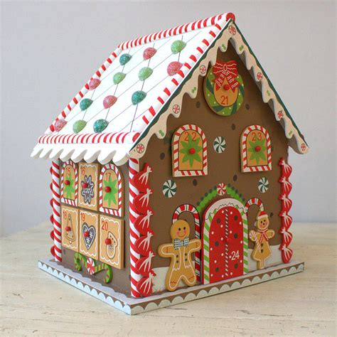 christmas gingerbread house to buy gingerbread house advent calendar by little ella james notonthehighstreet com