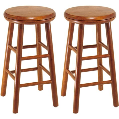 30 Wood Bar Stools by Beech Wood Bar Stools 30 Quot Set Of 2 Walmart
