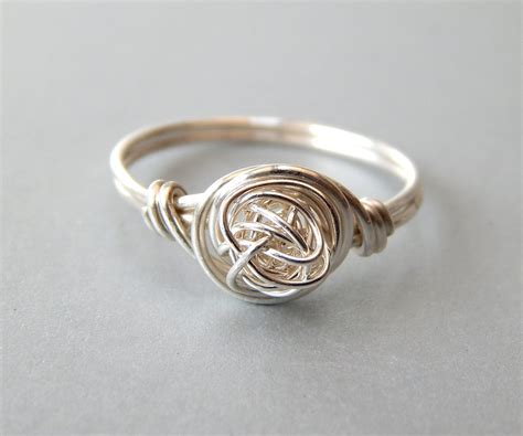 sterling silver knot ring silver stacking ring sterling