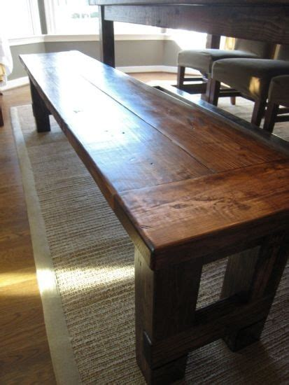 build kitchen bench 24 best images about bench for dining table on pinterest