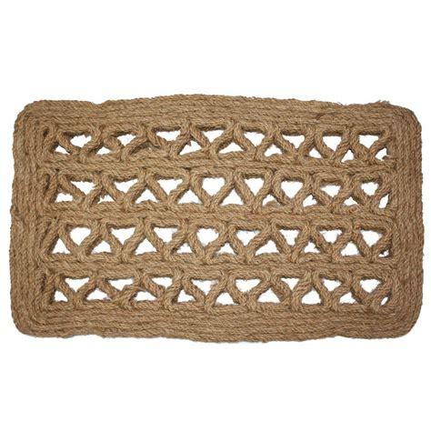 Coir Doormat by J M Home Fashions Chain Rectangle Woven 18 In X 30 In
