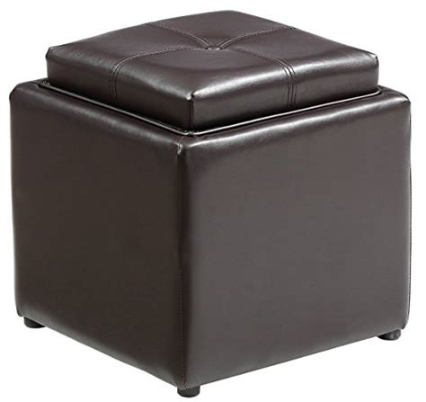 leather tray top ottoman compare price to leather tray top storage ottoman