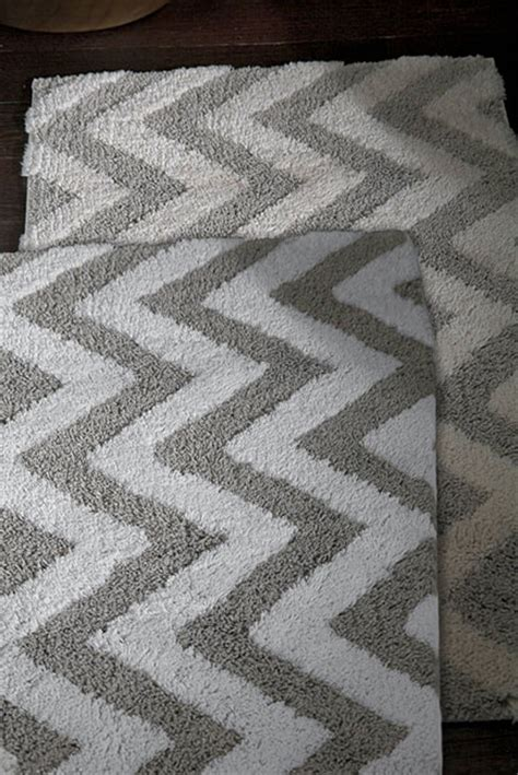 Kassatex Linen Chevron Bath Rug Gracious Style Chevron Bathroom Rug
