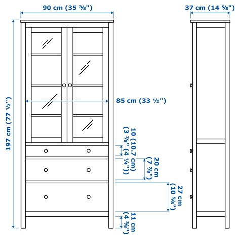 hemnes glass door cabinet hemnes glass door cabinet with 3 drawers black brown 90 x