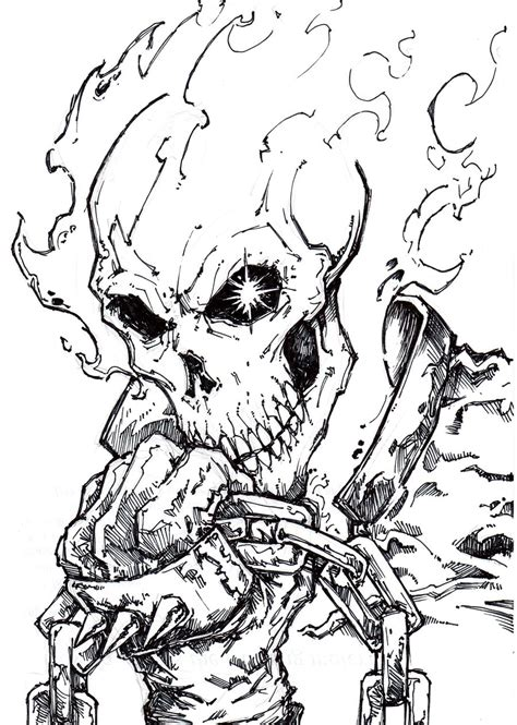 ghost rider 2 coloring pages ghost rider 4 by chrisozfulton on deviantart