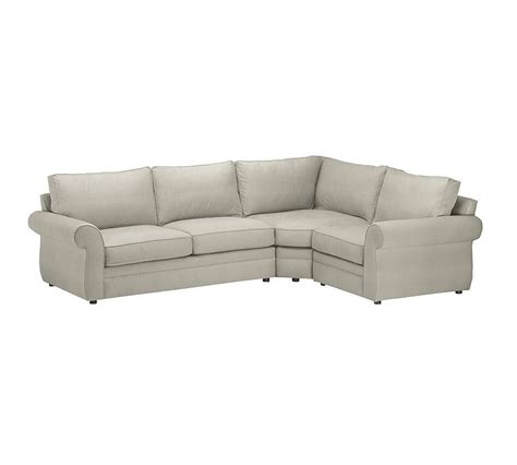 sectional with wedge pearce upholstered 3 piece sectional with wedge silver