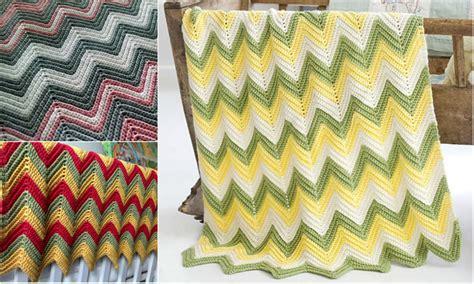 zig zag crochet pattern tutorial free pattern zig zag baby blanket video tutorial