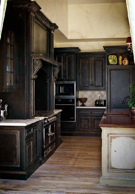 Black Cabinets In Kitchen by Black Kitchen Cabinets With Some White Accents Traba Homes