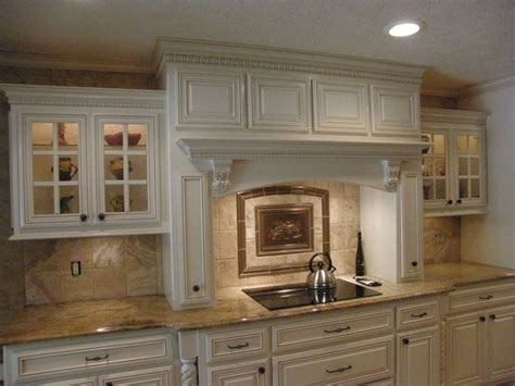 hoods kitchen cabinets decorative range hood cover with crown molding and a
