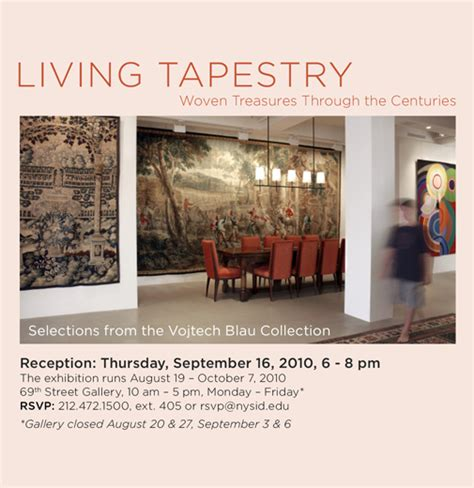 living tapestry at the new york school of interior design 171 vojtech blau