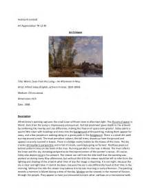Artwork Analysis Essay Exle by Criticism Student Exle 2