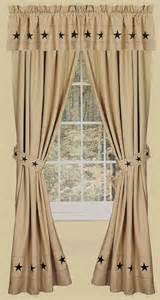 Country Window Curtains Danville 2 Curtain Window Panels Primitive Country Nutmeg Creme Black Lone