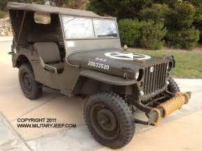 1944 Willys Jeep 1944 Willys Mb Jeep For Sale Militaryjeep