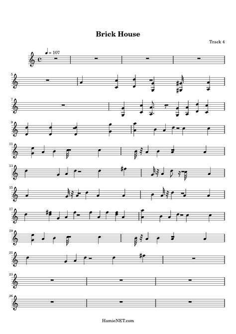 brick house sheet music brick house sheet music brick house score hamienet com