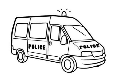 police van coloring page police car coloring pages for kids clipart best