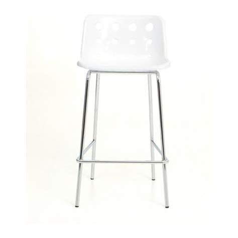 White Plastic Stool by Loft Robin Day 4 Leg White Plastic Polo Bar Stool By