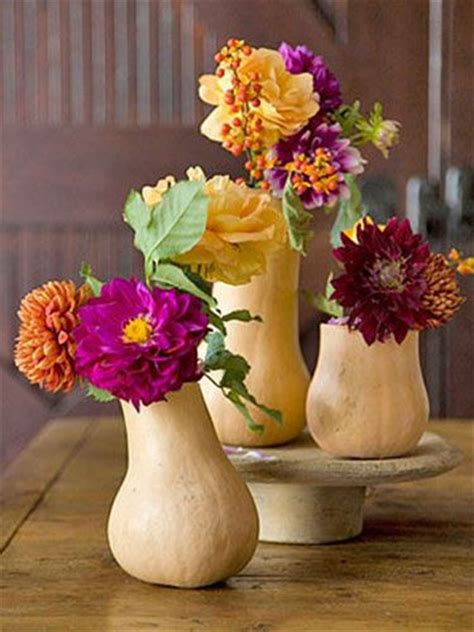 Fall Vases by Fall Flowers In White Gourd Vases Tablescapes