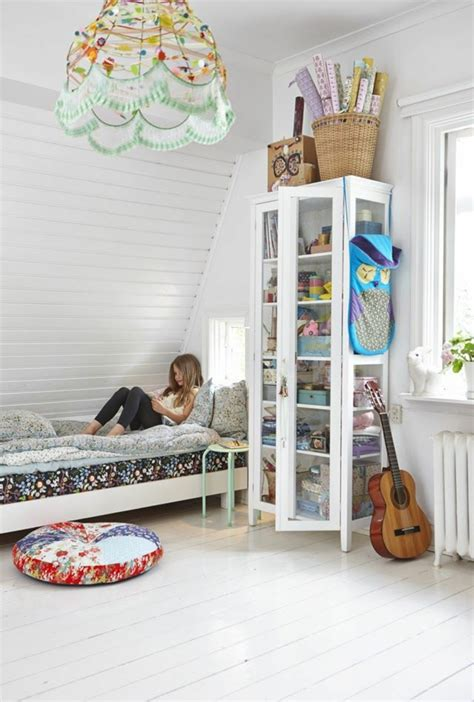 bett dachschräge kinderzimmer dachgeschoss design