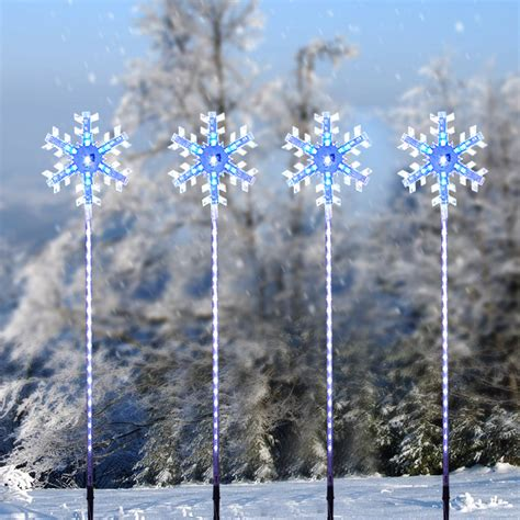 8pcs christmas xmas garden festival outdoor decoration led