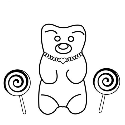 Teddy Bear Wearing Jewelry Coloring Page Teddy Bear With The Pearl Earring Coloring Page Printable