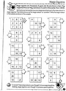 magic squares math worksheets math puzzle worksheets 3rd