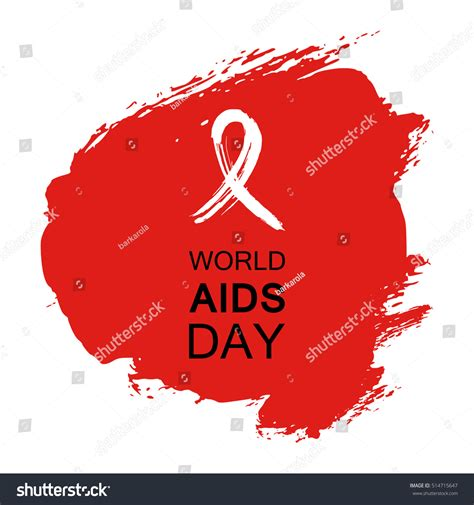 aids template aids hiv ribbon stock vector 514715647
