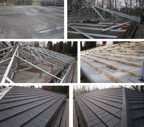 Flat Roof To Pitched Roof Pictures Chatham Jackson Roofing Contractors Flat Roof Conversion