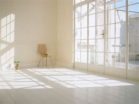 interior space sunlight in living room simple and clean living space
