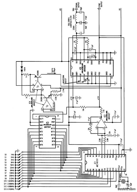 frequency synthesizer circuit diagram frequency synthesizer basic circuit circuit diagram