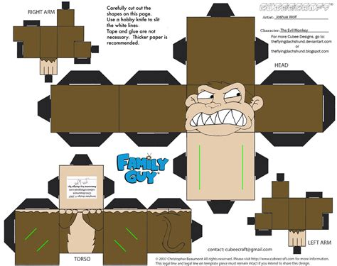 Papercraft Monkey - fg3 the evil monkey cubee by theflyingdachshund on deviantart