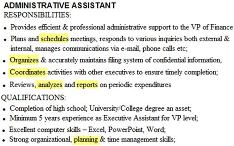 Virtual Assistant Resume Samples by Action Verbs List 6 Action Words That Make Your Resume