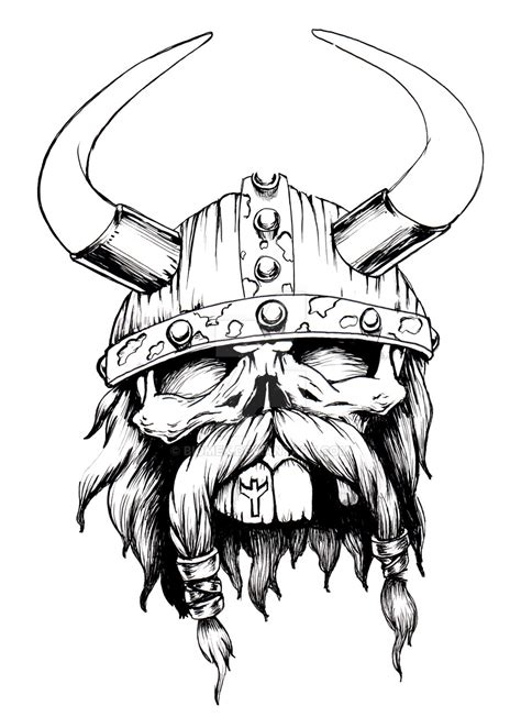 viking skull tattoo designs viking skull by biomek on deviantart