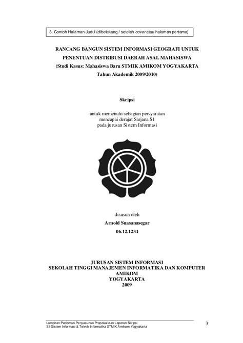 format skripsi unpam contoh cover depan proposal skripsi obtenez livre