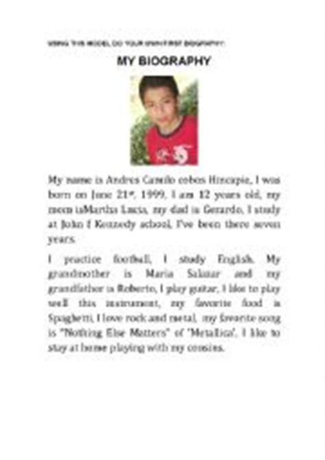 biography exles for elementary students english teaching worksheets biographies