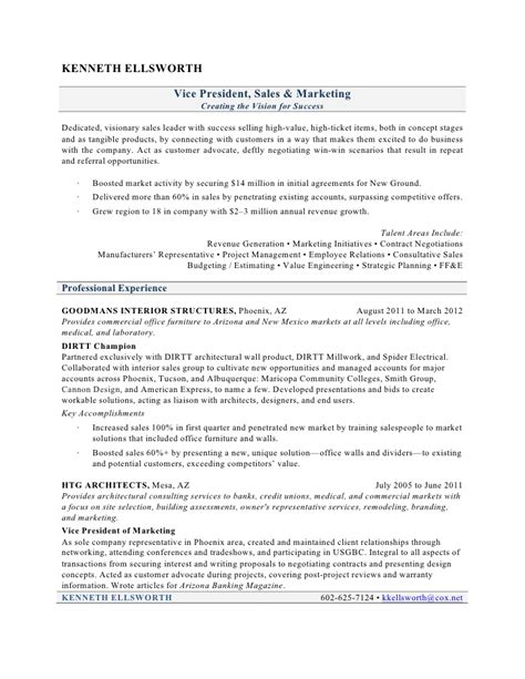 Vice President Of Sales And Marketing Description by Vp Sales Business Development Resume Resume Regional Sales Manager India Sle Resume For