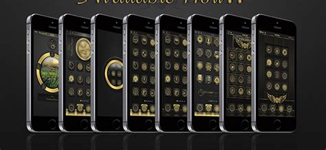 gold winterboard themes golden theme for iphone best winterboard theme