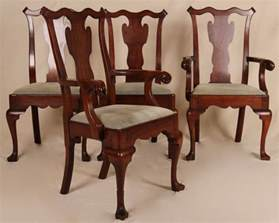 Antique Style Dining Chairs Set Of Four Pennsylvania House Chippendale Antique Style Dining Side Arm Chairs For Sale
