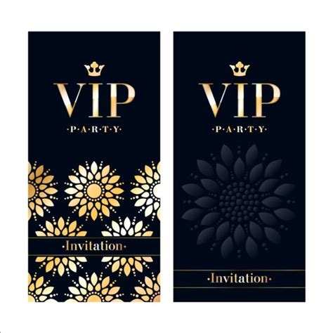 luxury vip invitation cards template vector 01 vector