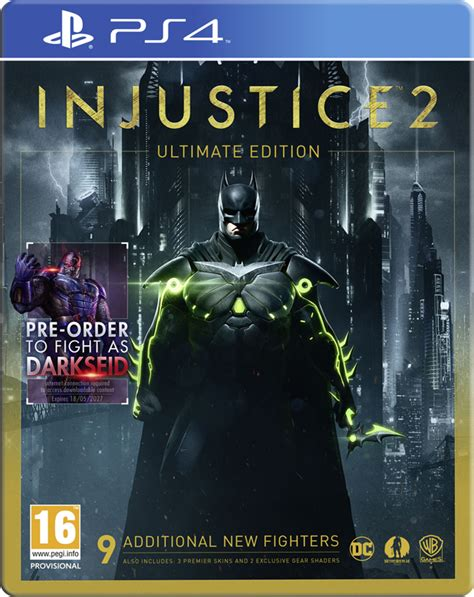 Injustice Second injustice 2 ultimate edition playstation 4 second