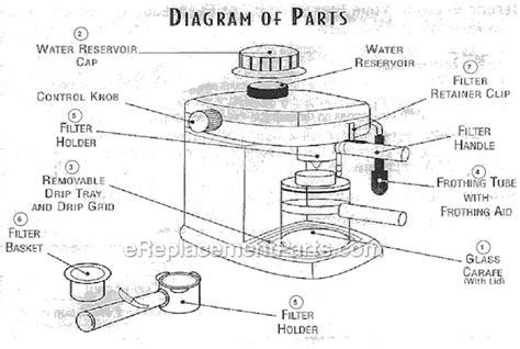 mr coffee parts diagram mr coffee ecm91 parts list and diagram