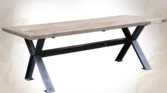 table rabattable cuisine table bois et metal salle