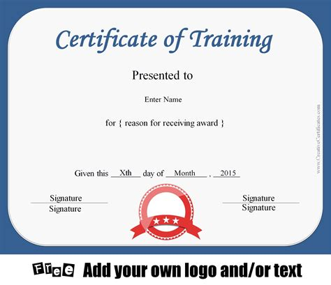 Free Certificate Of Training Template Customizable Trainer Certificate Template