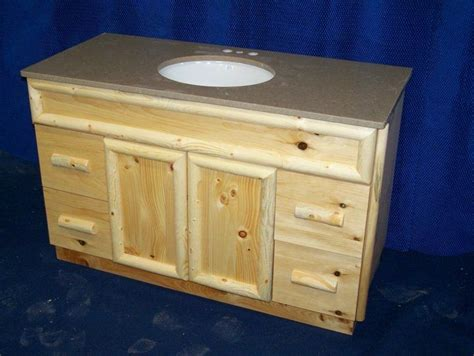 handmade knotty pine rustic bathroom vanity by fbt sawmill custom wood furniture custommade