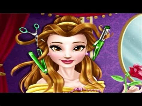real haircut games belle beautiful disney princess belle new haircuts movie game