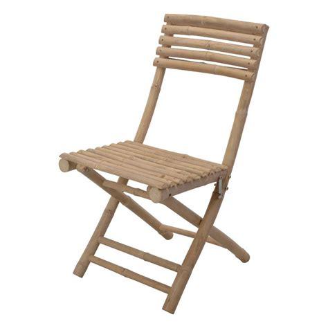 lot de 2 chaises de jardin pliantes bambou chaise et