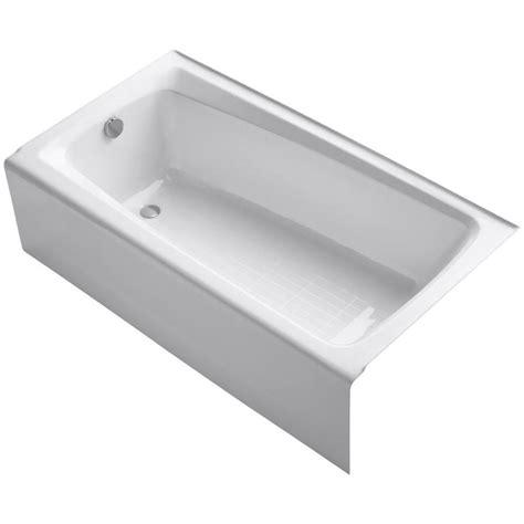 kohler cast iron bathtubs shop kohler mendota 60 in white cast iron skirted bathtub with left hand drain at