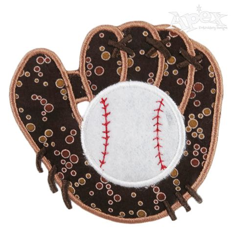 design embroidered gloves baseball glove applique embroidery designs