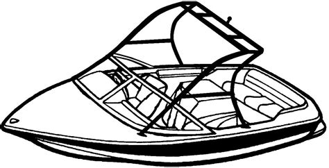 boat with trailer free coloring pages - Ski Boat Drawing